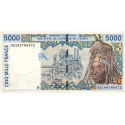 Bénin - Pick 213Bl - 5'000 francs - 2002 - Etat : TTB