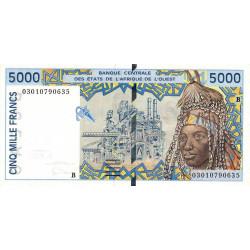 Bénin - Pick 213Bm - 5'000 francs - 2003 - Etat : SPL+
