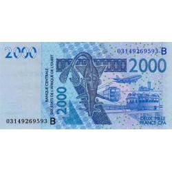 Bénin - Pick 216Ba - 2'000 francs - 2003 - Etat : NEUF