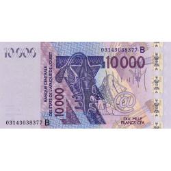 Bénin - Pick 218Ba - 10'000 francs - 2003 - Etat : NEUF