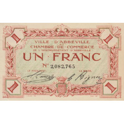 Abbeville - Pirot 1-9 - 1 franc - Etat : SPL