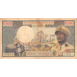 Centrafrique - Pick 2 - 1'000 francs - Etat : TB