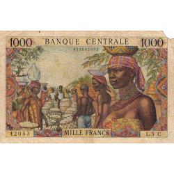 Congo (Brazzaville) - Afrique Equatoriale - Pick 5g - 1'000 francs - Etat : B+