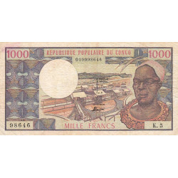 Congo (Brazzaville) - Pick 3c - 1'000 francs