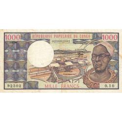 Congo (Brazzaville) - Pick 3e - 1'000 francs - Etat : TB+