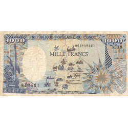 Congo (Brazzaville) - Pick 10a - 1'000 francs - Etat : TB+