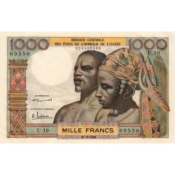 Etats Afrique Ouest - Pick 4 - 1'000 francs - Etat : pr.NEUF