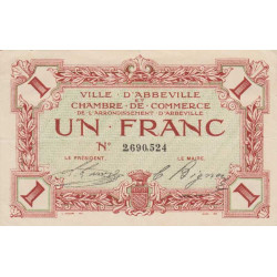 Abbeville - Pirot 1-15a - 1 franc - Etat : SUP