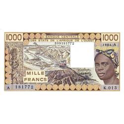 Côte d'Ivoire - Pick 107Ag - 1'000 francs - 1986 - Etat : NEUF