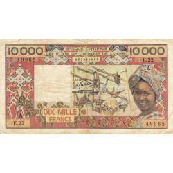 Côte d'Ivoire - Pick 109Af - 10'000 francs - 1984 - Etat : TB-