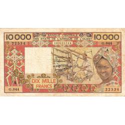 Côte d'Ivoire - Pick 109Ai- 10'000 francs - 1989 - Etat : TB