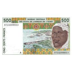 Côte d'Ivoire - Pick 110Ag - 500 francs - 1997 - Etat : NEUF