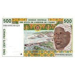 Côte d'Ivoire - Pick 110Aj - 500 francs - 1999 - Etat : SPL