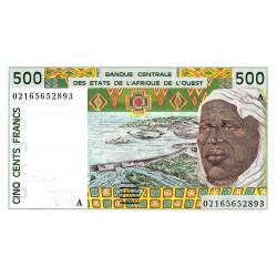 Côte d'Ivoire - Pick 110Am - 500 francs - 2001 - Etat : NEUF