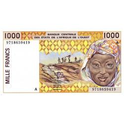 Côte d'Ivoire - Pick 111Ag - 1'000 francs - 1997 - Etat : SPL