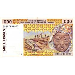 Côte d'Ivoire - Pick 111Aj - 1'000 francs - 2001 - Etat : SUP