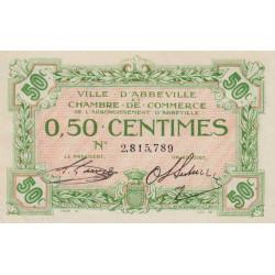 Abbeville - Pirot 1-19 - 50 centimes - Etat : SPL