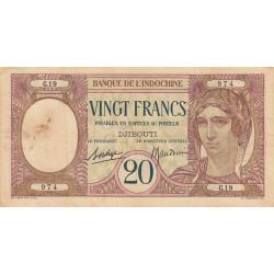 Djibouti - Pick 7b - 20 francs - 1936 - Etat : TB