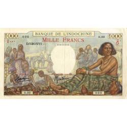 Djibouti - Pick 10 specimen - 1'000 francs - 1938 - Etat : SUP