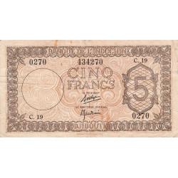 Djibouti - Pick 14 - 5 francs - 1944 - Etat : TB+