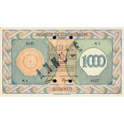 Djibouti - Pick 18 annulé - 1'000 francs - 1944 - Etat : SPL