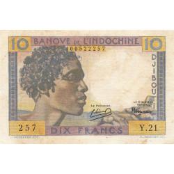 Djibouti - Pick 19 - 10 francs - 1946 - Etat : TB+