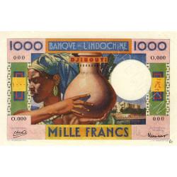 Djibouti - Pick 20 specimen - 1'000 francs - 1946 - Etat : SUP+