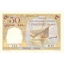 Djibouti - Pick 25 - 50 francs - 1952 - Etat : SUP