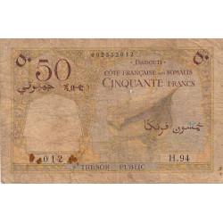 Djibouti - Pick 25 - 50 francs - 1952 - Etat : AB