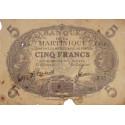 Martinique - Pick 6-3 - 5 francs - Etat : TB-