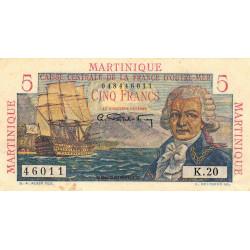 Martinique - Pick 27 - 5 francs - Etat : TTB