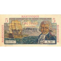 Martinique - Pick 27 - 5 francs - France Outre-Mer - 1947 - Etat : TTB+