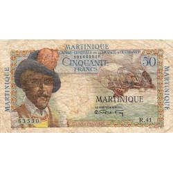 Martinique - Pick 30 - 50 francs - France Outre-Mer - 1947 - Etat : B+