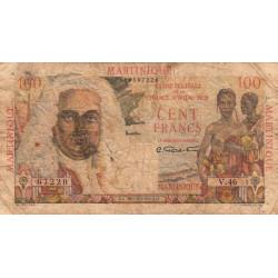 Martinique - Pick 31 - 100 francs - France Outre-Mer - 1947 - Etat : B