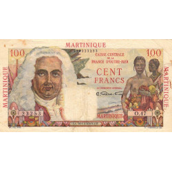 Martinique - Pick 31 - 100 francs - Etat : TTB