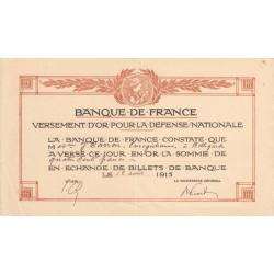 Ain - Versement d'or pour la Défense Nationale - 1915
