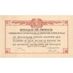 Yvelines - Versement d'or pour la Défense Nationale - 1915