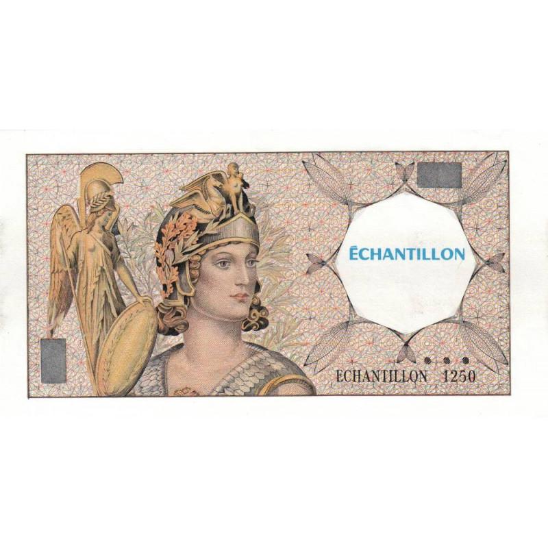 Athena à gauche - Format 100 francs DELACROIX - DIS-03-F-02 - Etat : SUP+
