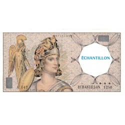 Athena à gauche - Format 50 francs QUENTIN DE LA TOUR - DIS-03-I-01 - Etat : SPL