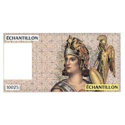 Athena à droite - Format 20 francs DEBUSSY - DIS-04-A-01 - Etat : SPL