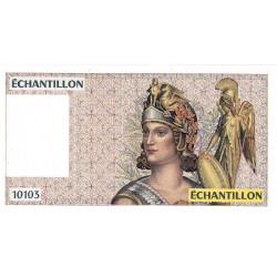 Athena à droite - Format 100 francs DELACROIX - DIS-04-A-03 - Etat : NEUF