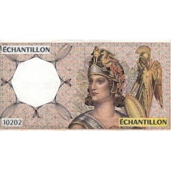 Athena à droite - Format 100 francs DELACROIX - DIS-04-A-03v - Etat : TB+