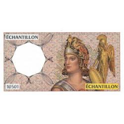 Athena à droite - Format 500 francs PASCAL - DIS-04-A-04 - Etat : SPL