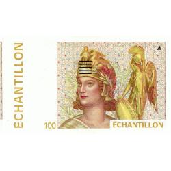 Athena à droite - 100 francs - DIS-04-B-02 - Couleure jaune dominante - Etat : NEUF