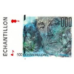 Ravel - Format 100 francs CEZANNE - DIS-05-A-02 - Etat : SPL