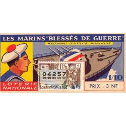 1962 - 1/10ème - Marins blessés de guerre