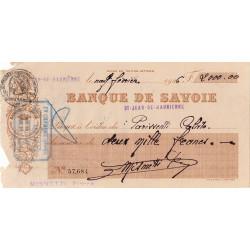 Banque de Savoie - Chèque 1926 - 1b - Etat : TB