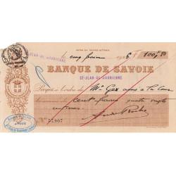 Banque de Savoie - Chèque 1926 - 4b - Etat : TB+