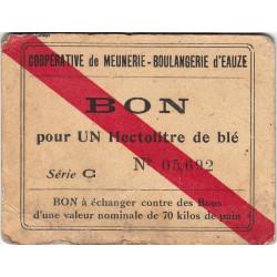 32-nr Eauze - Coopérative de Meunerie Boulangerie - Bon pour 1 hectolitre de blé - Série C - Etat : TB+ à TTB