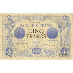 France - Fay-01-15 - 1873 - 5 francs noir